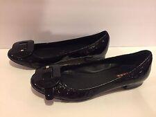 Prada Sport Ballet Flats Black Patent Leather Round Toe 36/ 5.5-6 Italy