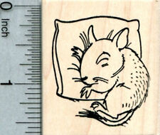 Degu Rubber Stamp, Sleeping on a pillow E33802 WM