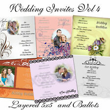 """PSD Photoshop Templates for Weddings Invitations 5x5"""""""