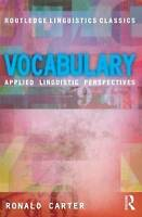 Vocabulary. Applied Linguistic Perspectives by Carter, Ronald (Paperback book, 2