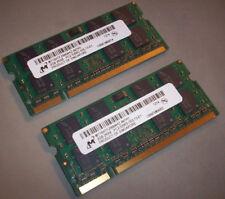 4GB (2x2GB) PC2-5300s DDR2-667MHz 2Rx8 Micron Memory MT16HTF25664HIZ-667H1
