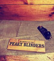 """Peaky Blinders Wooden """"By order of the Peaky Blinders"""" Sign Hand Crafted"""