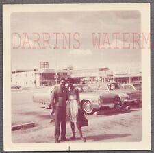 Vintage Car Photo Black Man & Woman w/ 1966 Cadillac 732059
