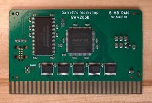 RAM2E II (GW4203B) -- 8MB RAM for Apple IIe ][e -- 80 col -- RAMWorks compatible
