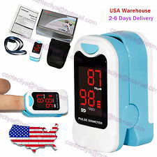 LED Finger Pulse Oximeter Blood Oxygen SpO2 PR Heart Rate Monitor Pouch&Lanyard