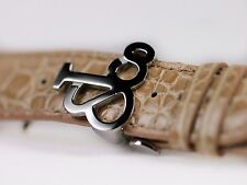 Jacob & Co Alligator Leather Tan Nude Short 22MM Watch Strap Steel Deployment