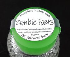 ZOMBIE FARTS Warm Vanilla Sugar Halloween Soap, Glycerin Bar Natural Argan Oil