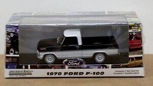 Greenlight 86338 1970 Ford F-100 Ranger Pickup Black/ White 1:43 Mint/ Box