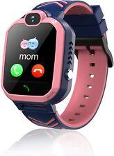 PINK Kids Smartwatch Phone Waterproof GPS Tracker / SOS Camera / Alarm Clock