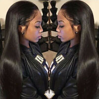 Glueless  Brazilian Human Hair Full Lace Wig Lace Front wigs silky straight Wave