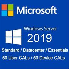 Windows Server 2019 STD/DATA/ESS -Option 50 user CALs / device CALs RDS