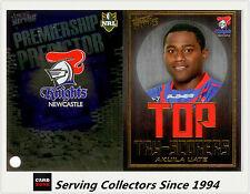 2011 NRL Strike Top Tryscorer TS8 Akuila Uate (Knights) + Predictor Card