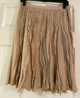 Ann Taylor Pleated A Line Skirt Soft Pink Size 4