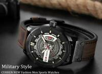 CURREN Men Military Sports Watches Men's Quartz Date (Luxury Brand)