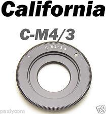 C Mount Lens to Micro 4/3 M4/3 43 Adapter G1 GH1 E-P1 G2 G10 EP-2 E-PL1 GH2