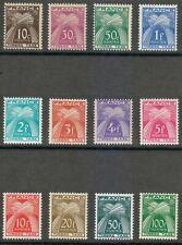 France 1946 MNH Mi 81-92 Sc J80-J92 Due stamps Set. Sheaves of Wheat.Timbre Taxe