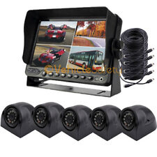 """7"""" Monitor DVR Recording 5 x CCD Camera Car Rear View Camera System for Truck"""