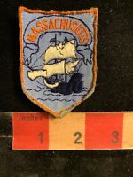 Vtg Massachusetts Ship Patch 75WT