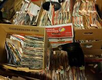 "45 rpm LOT ** 100 random 7"" vinyl records 50s 60s 70s ***  rock pop soul country"