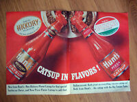 1965 Hunt's Tomato Catsup Ad New Hickory & Pizza Flavor