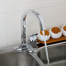 UK Single Handle Kitchen Swivel Sink Faucet Mixer Cold & Hot  Water Taps Spout