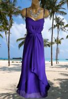 COAST  STUNNING 100% SILK PURPLE  MAXI EVENING/CRUISE  DRESS SIZE 18