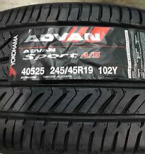 1 New 245 45 19 Yokohama Advan Sport A/S Tire
