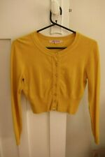Review mustard long sleeve Chessie cardigan cardi Size 10