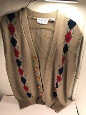 Vintage Brian MacNeil Sportswear Button Sweater Vest size L china