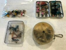 80+ Vintage Fly Fishing Flies & Poppers Lot in Cases Various Shapes & Sizes Look