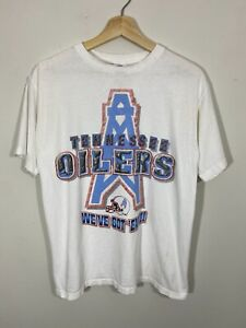 Vtg 90s Tennessee Oilers NFL Starter T-shirt Youth XL Made In USA