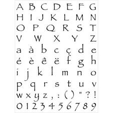 Artemio Clear Alphabet 3 Stamps - Upper & Lower Case Alphabet, Numbers & Accents