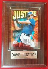 David Justice 1997 Circa Baseball Card #137 Cleveland Indians Wood Plaque MINT