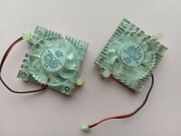 4 pcs Brushless DC Cooling Fan 4010S 12V 9 Blade 40x40x10mm 2pin White Heatsink