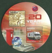 Namibia - 20 años nampost y telecom bloque 79 II post frescos 2012 mié. 1419-1420