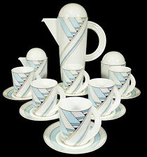 ROSENTHAL - Service KAFFEESERVICE f. 6 Pers. - CUPOLA DIAGONALE - Mario Bellini