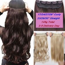 US STORE Natural Women 3/4 Full Head Clip In Hair Extension Real Thick Hairpiece