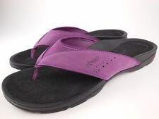 ABEO Balboa Purple Nubuck Leather Mesh Flip Flops Thong Sandals Sz 12 N