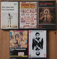 5x PETE TOWNSHEND CASSETTE TAPES / WHO CAME FIRST / ROUGH MIX / EMPTY GLASS ETC