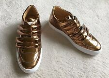 SOLD out MAISON MARGIELA mirrored bronze LOW TOP leather SNEAKERS sz 8-8.5 US