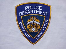 D103 ECUSSON PATCH THERMOCOLLANT aufnaher toppa POLICE DEPARTEMENT NEW YORK