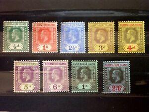 A2436 Gilbert & Ellice Islands 1912 SG12-22 part set to 2/6d Mint
