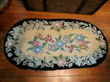 Vintage Small Hooked Rug