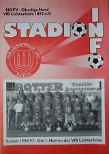 Programm 1996/97 VfB Lichterfelde - Optik Rathenow