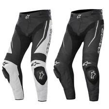 Pantalones carrera para hombres de cuero para motoristas