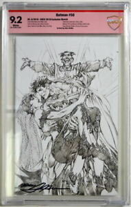 BATMAN 50 CBCS 9.2 Joker 2018 SDCC Exclusive SKETCH Cover SIGNED by NEAL ADAMS