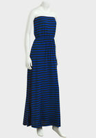 ❤Gorgeous LADIES maxi dress black blue striped womans 6 10 12 14 16 summer new