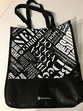 NEW Lululemon Manifesto Reusable Tote Bag Black White Yoga Gym Shopping 🛍  Larg