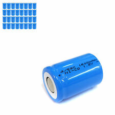 32 pcs 4/5 Sub C SC 1600mAh 1.2V Ni-Cd rechargeable Battery Cell Flat Top Blue