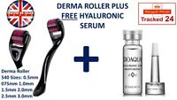 540 DERMA ROLLER 0.25mm - 3mm MICRO NEEDLE FACE SCARS WRINKLES ACNE ANTI AGEING